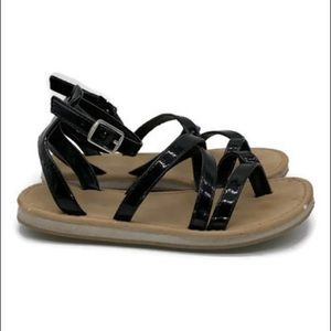 The Children's Place Black Strappy Sandals Size 12